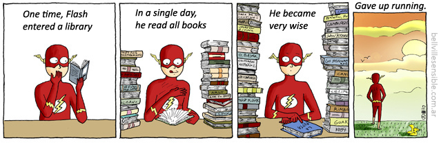 A story from flash and books